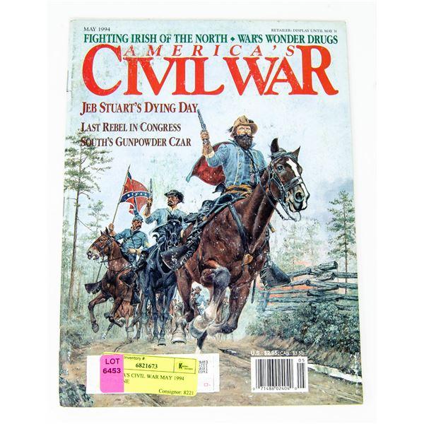 AMERICA'S CIVIL WAR MAY 1994 MAGAZINE