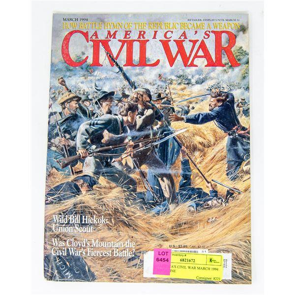 AMERICA'S CIVIL WAR MARCH 1994 MAGAZINE