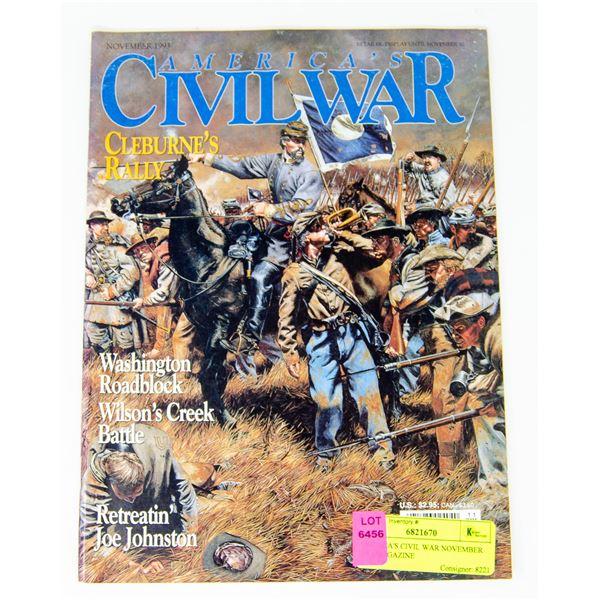 AMERICA'S CIVIL WAR NOVEMBER 1993 MAGAZINE