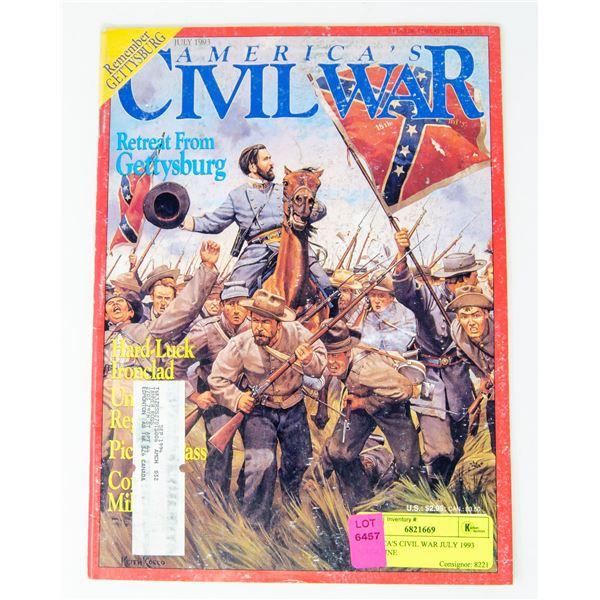 AMERICA'S CIVIL WAR JULY 1993 MAGAZINE