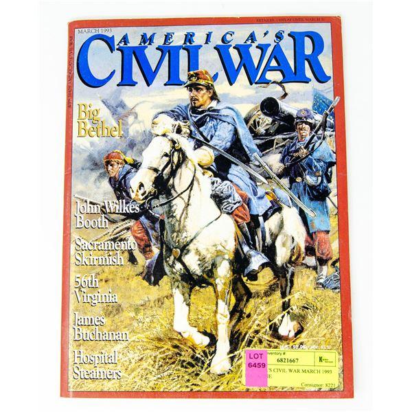 AMERICA'S CIVIL WAR MARCH 1993 MAGAZINE