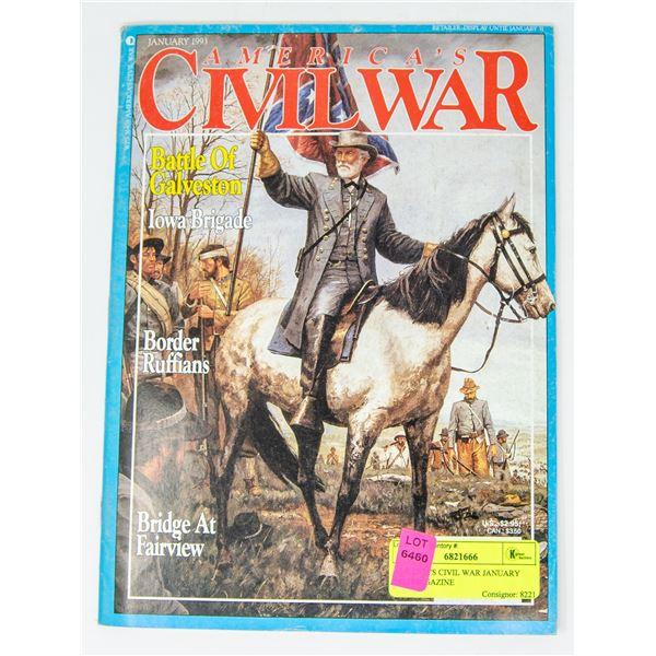 AMERICA'S CIVIL WAR JANUARY 1993 MAGAZINE