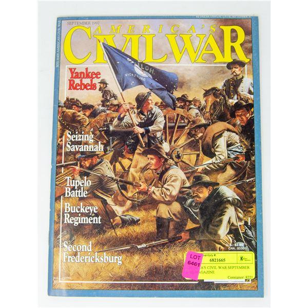 AMERICA'S CIVIL WAR SEPTEMBER 1992 MAGAZINE