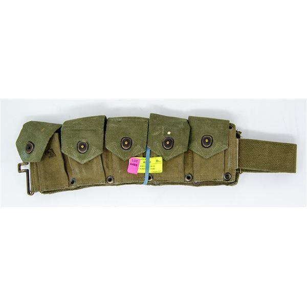 VINTAGE WW2 US M1903 M1 GARAND AMMO BELT RARE