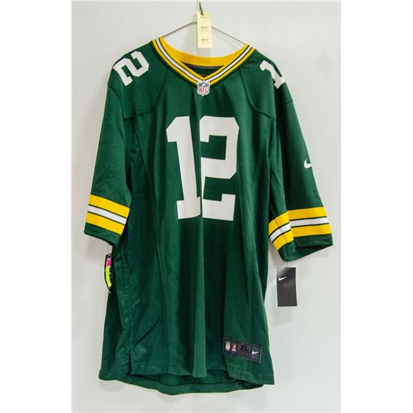 PACKERS ROGERS #12 NIKE JERSEY NEW WITH TAGS $140