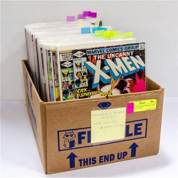 BOX OF UNCANNY X-MEN (44), NEW X-MEN, X-FACTOR