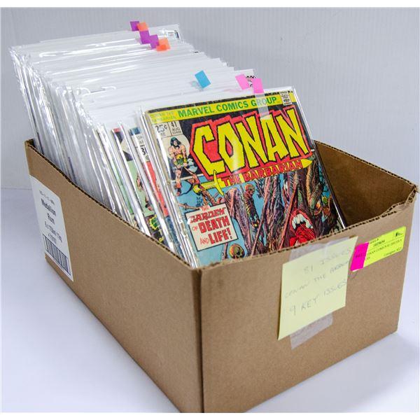 BOX OF CONAN COMICS 81 ISSUES 9 KEY ISSUES