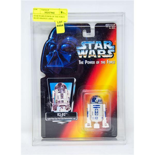 STAR WARS POWER OF THE FORCE R2-D2 ORANGE LABEL
