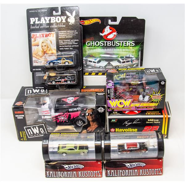 LOT OF COLLECTIBLE VEHICLES PLAYBOY AND NWO