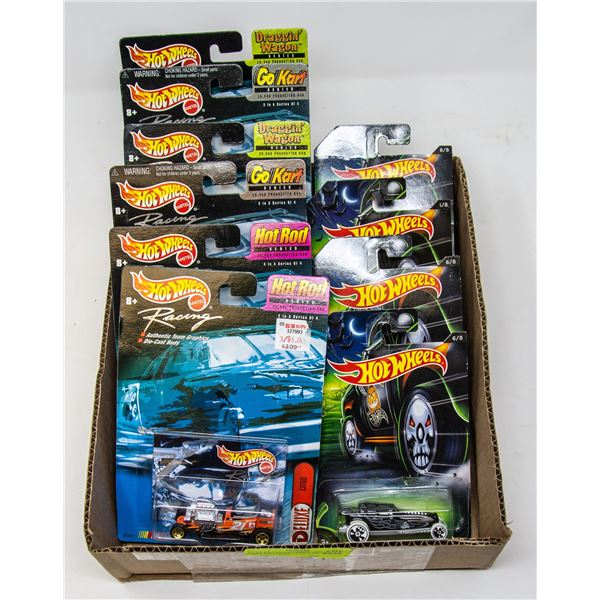 FLAT OF COLLECTIBLE HOT WHEELS CARS ON CARD