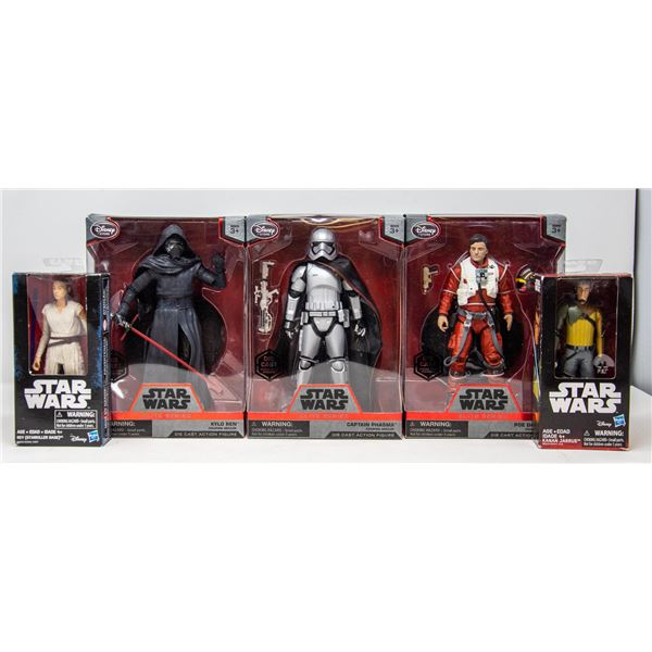 COLLECTIBLE LOT OF STAR WARS FIGURES