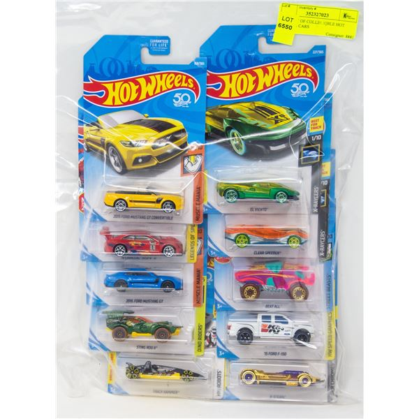 BAG LOT OF COLLECTIBLE HOT WHEELS CARS