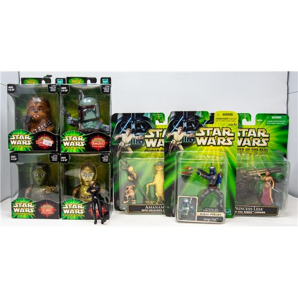 FLAT OF COLLECTIBLE STAR WARS FIGURES