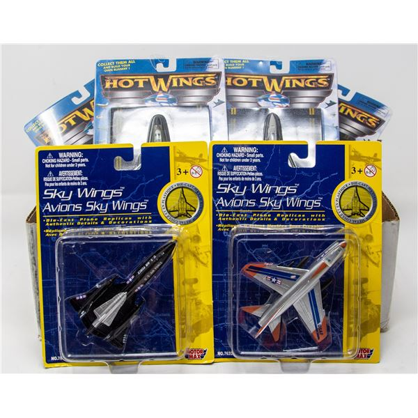 LOT OF COLLECTIBLE HOT WINGS AIRPLANES
