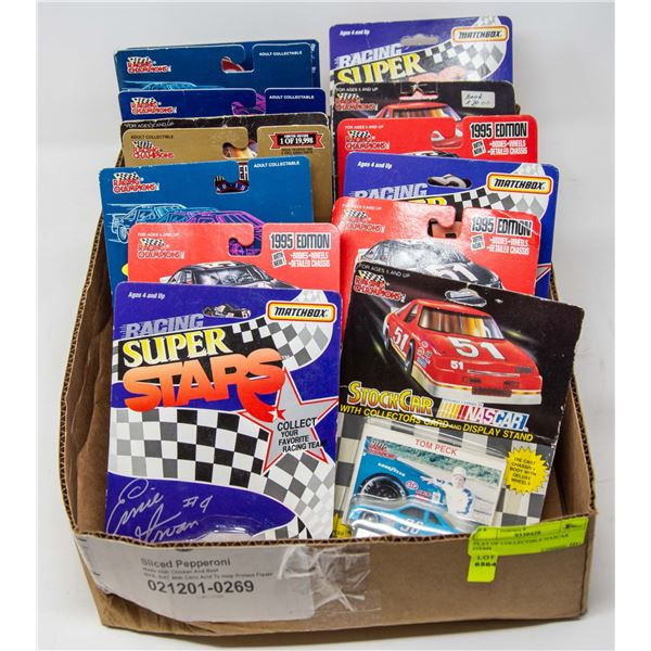 FLAT OF COLLECTIBLE NASCAR ITEMS