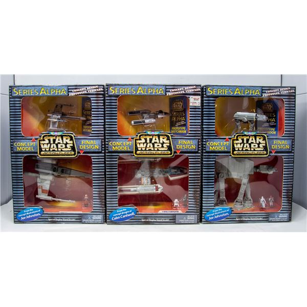 LOT OF STAR WARS SERIES ALPHA CONCEPT VEHICLES