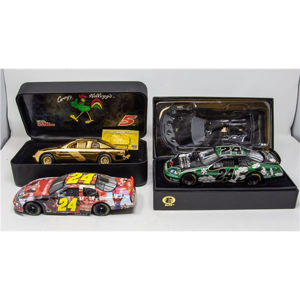 LOT OF RACING CARS IN SEALED BOXES
