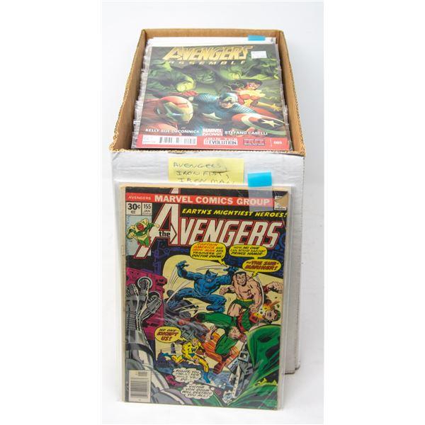 BOX OF AVENGERS, IRON MAN AND IRON FIST COMICS