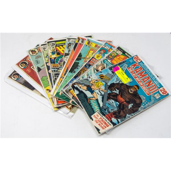 LOT OF 13 COMICS 20 CENT, 25 CENT, 30 CENT ISSUES