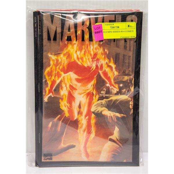 MARVELS MINI SERIES #0-4 COMICS