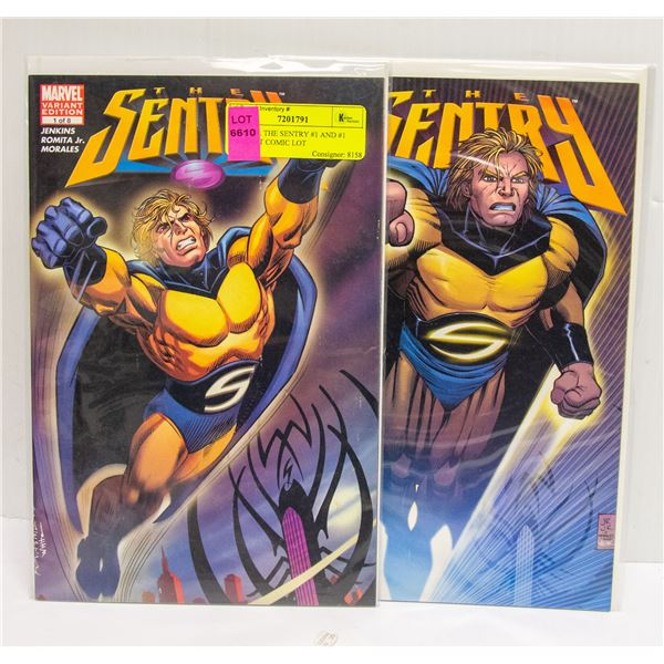 MARVEL THE SENTRY #1 AND #1 VARIANT COMIC LOT