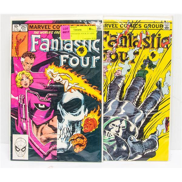 MARVEL FANTASTIC FOUR 257 AND 258 COMICS