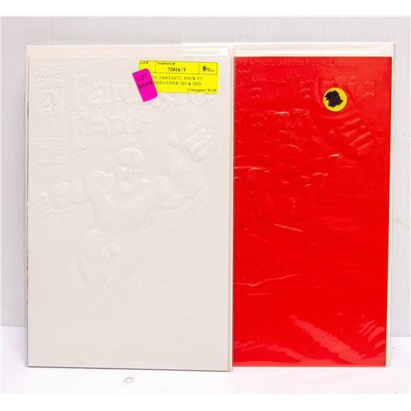 MARVEL FANTASTIC FOUR 371 EMBOSSED COVER 1ST & 2ND