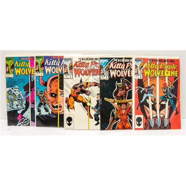 MARVEL KITTY PRYDE AND WOLVERINE 1-5 COMIC SET