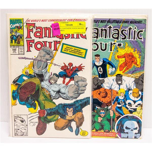 MARVEL FANTASTIC FOUR 348 AND 349 COMICS