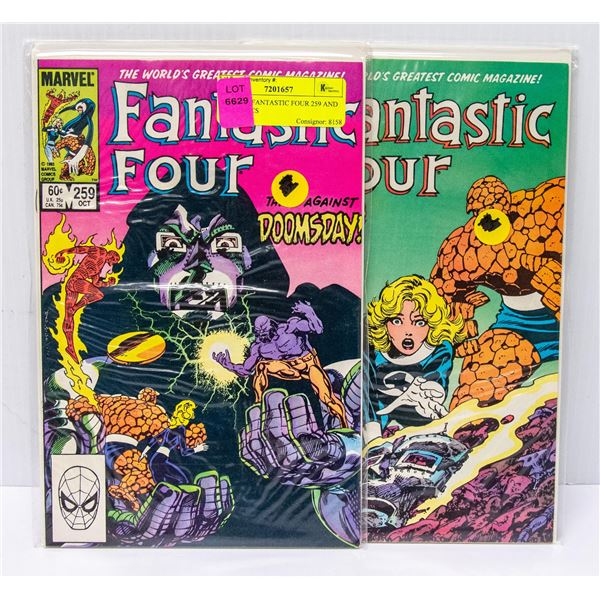 MARVEL FANTASTIC FOUR 259 AND 260 COMICS