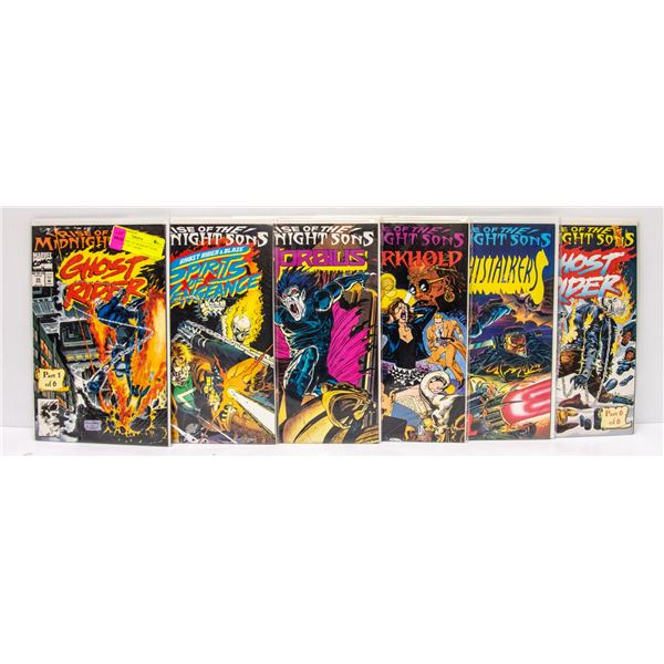 MARVEL RISE OF MIDNIGHT SONS #1-6 COMIC SET, GHOST