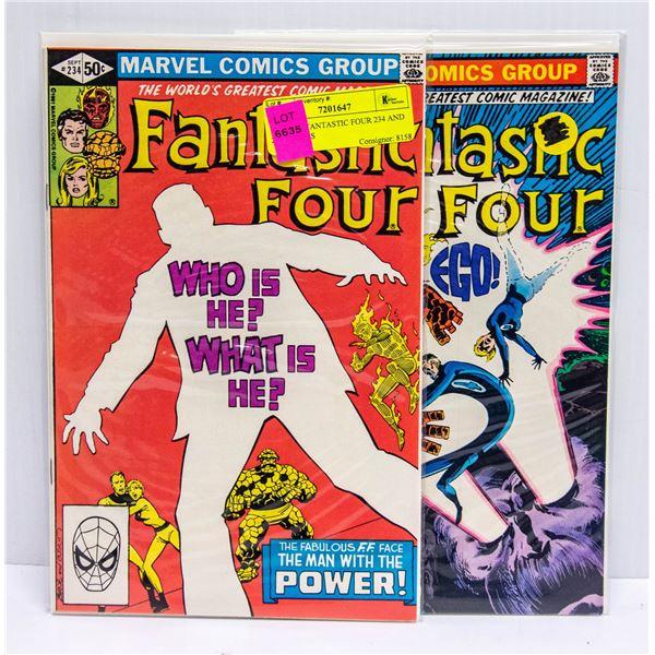 MARVEL FANTASTIC FOUR 234 AND 235 COMICS