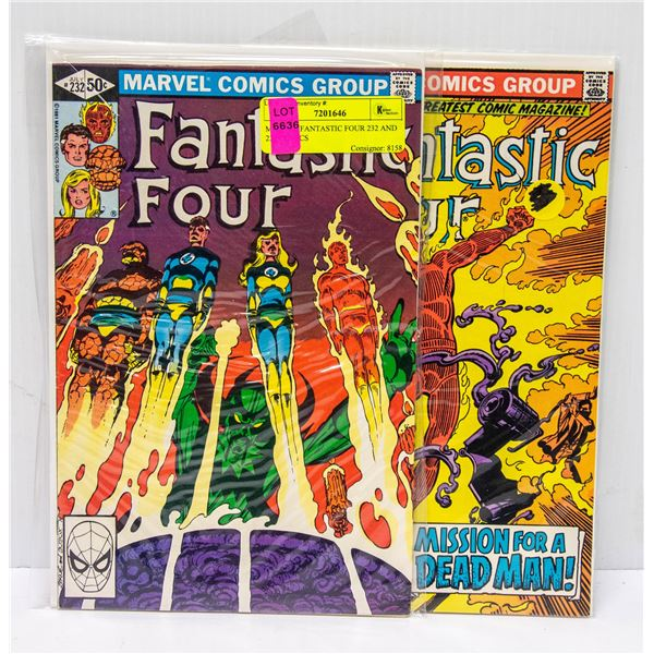 MARVEL FANTASTIC FOUR 232 AND 233 COMICS