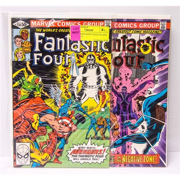 MARVEL FANTASTIC FOUR 230 AND 231 COMICS