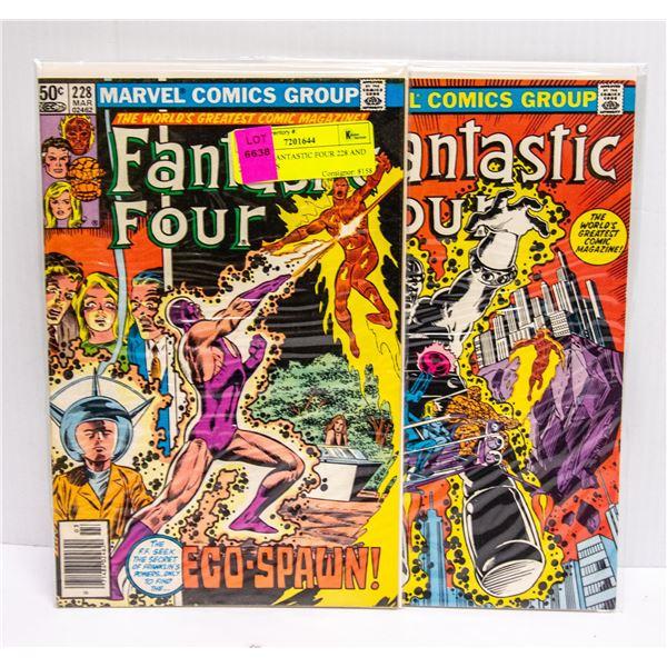 MARVEL FANTASTIC FOUR 228 AND 229 COMICS
