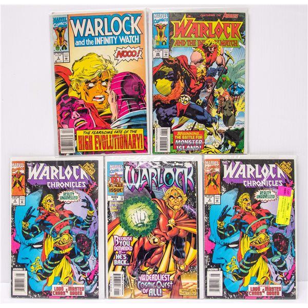 LOT OF 5 MARVEL COMICS THE WARLOCK CHRONICLES