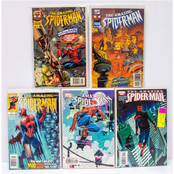 LOT OF 5 MARVEL COMICS THE AMAZING SPIDERMAN