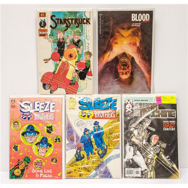 LOT OF 5 ASSORTED COMICS