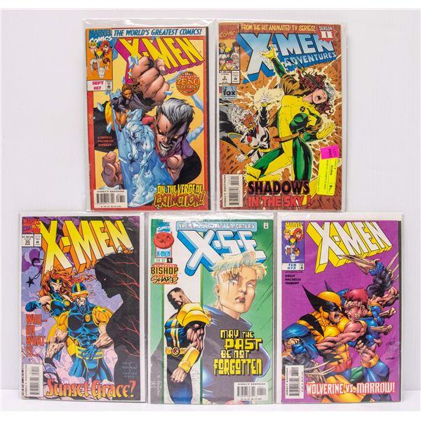 LOT OF 5 MARVEL COMICS X-MEN