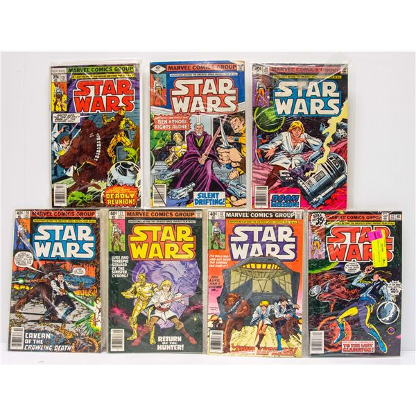 LOT OF 7 MARVEL COMICS STAR WARS