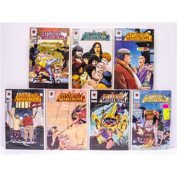 LOT OF 7 VALIANT COMICS ARCHER & ARMSTRONG