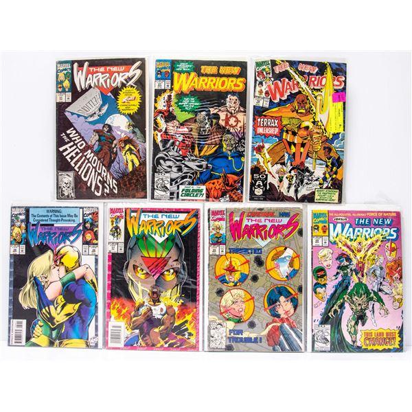 LOT OF 7 MARVEL COMICS THE NEW WARRIORS