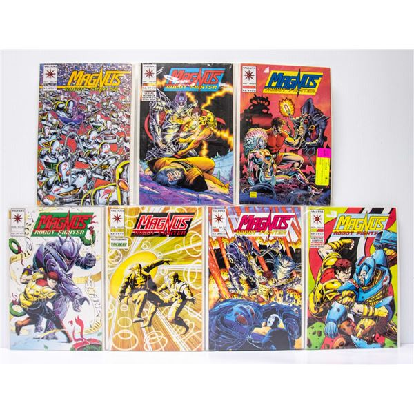 LOT OF 7 VALIANT COMICS MAGNUS ROBOT FIGHTER