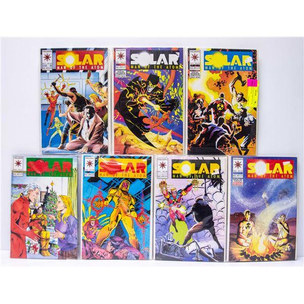 LOT OF 7 VALIANT COMICS SOLAR MAN OF THE ATOM