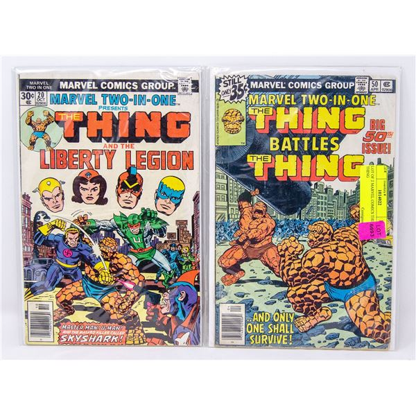 LOT OF 2 MARVEL COMICS THE THING