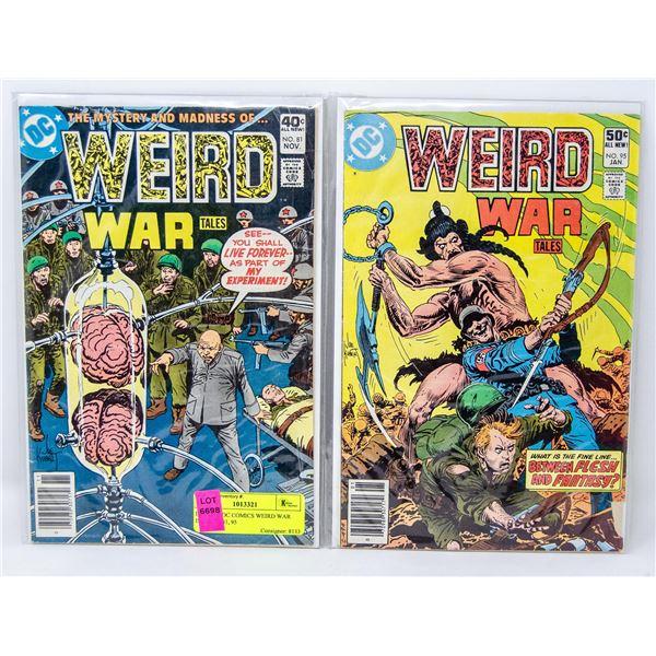 LOT OF 3 DC COMICS WEIRD WAR ISSUE 78, 81, 95