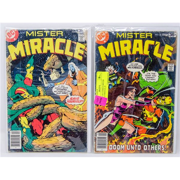 LOT OF 2 DC COMICS MISTER MIRACLE ISSUE 23, 25
