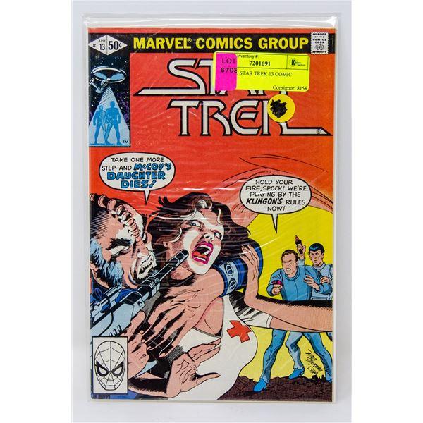 MARVEL STAR TREK 13 COMIC