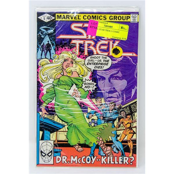 MARVEL STAR TREK 5 COMIC