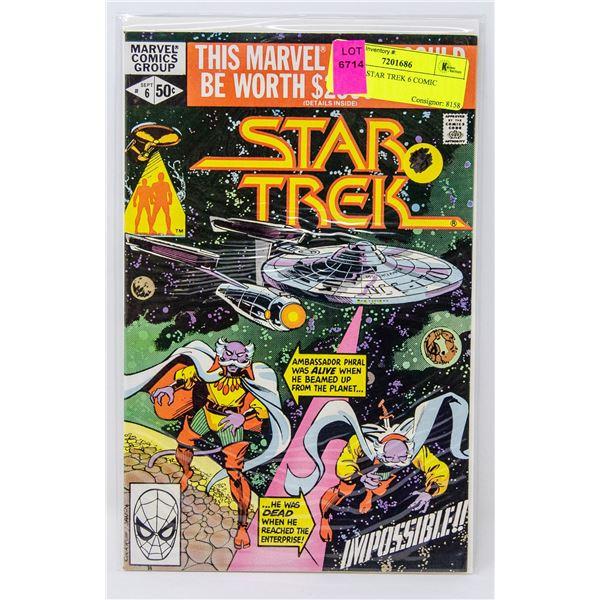 MARVEL STAR TREK 6 COMIC